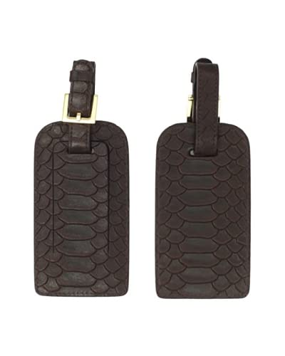 Graphic Image Women's Set of 2 Luggage Tags, Brown