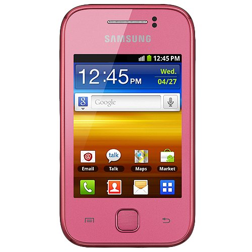 Samsung GT-S5360L Galaxy Y Unlocked Phone - US Warranty - Coral Pink