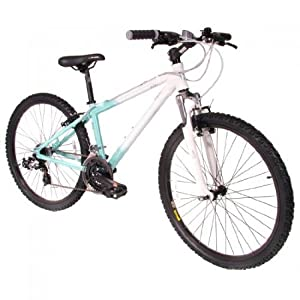Ladies Muddyfox Ella 26 Inch Mountain Bike in Powder Blue and White. MANUFACTURERS WARRANTY.