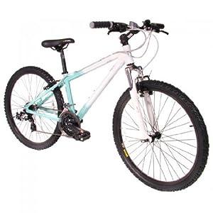 Ladies Muddyfox Ella 26 Inch Mountain Bike in Powder Blue and White. MANUFACTURERS WARRANTY.