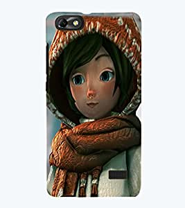 PRINTSWAG CARTOON GIRL Designer Back Cover Case for HUAWEI HONOR 4C