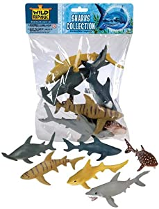 Amazon.com: Wild Republic Polybag Sharks: Toys & Games
