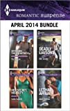 img - for Harlequin Romantic Suspense April 2014 Bundle: Defending the Eyewitness\Her Secret, His Duty\Deadly Liaisons\Lethal Affair book / textbook / text book