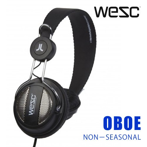 WeSC OBOE BLACKの写真01。おしゃれなヘッドホンをおすすめ-HEADMAN(ヘッドマン)-