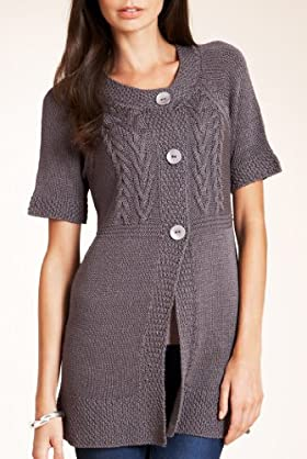 3 Button Longline Knitted Cardigan [T38-1370-S-LCTB]