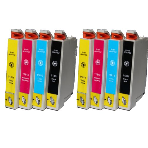 win-tinten 8 T1811-T1814 Kompatible Patrone als Ersatz für Epson Expression Home XP 305 XP 405 XP 205 XP 402 XP 202 XP 302 XP102 XP 415 XP 315 Drucker