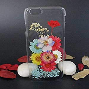 Beautiful Real Flowers Clear Slim Unique Design Phone Case for iPhone 6(4)
