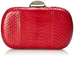 Inge Christopher Erin Snaksin Minaudere Clutch, Red, One Size