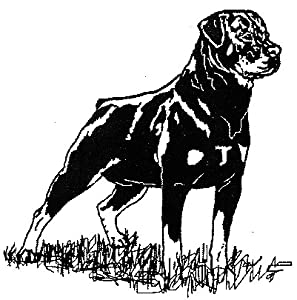 "Amazon.com: Dog Rubber Stamp - Rottweiler-11E (Size: 1-3/4"" Wide X 2"