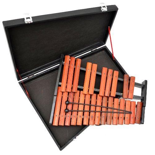 ts-ideen 6048 Chromatic Xylophone with 25 Solid Rosewood Notes in Case