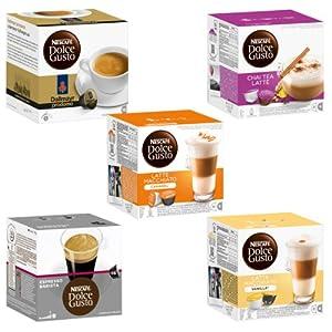 Choose Nescafé Dolce Gusto Capsules Exotic-Set, 5 Varieties , 5 x 16 Capsules from Nestlé