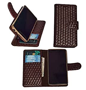 R&A Pu Leather Wallet Flip Case Cover With Card & ID Slots & Magnetic Closure For Sony Xperia XA