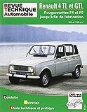 Rta Renault 4 TL et GTL : Fourgonnettes F4 et F6 jusqu' à la fin de fabrication. 956 et 1108 cm3