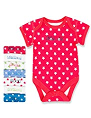 7 Pack Pure Cotton Assorted Slogans Bodysuits