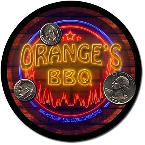 Orange'S Barbeque Drink Coasters - 4 Pack