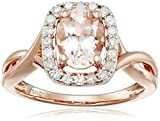 14k Pink Gold Morganite and Diamond Ring (1/4cttw, I-J Color, I2-I3 Clarity)