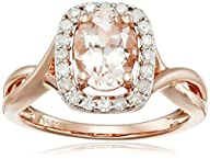 14k Pink Gold Morganite and Diamond R…