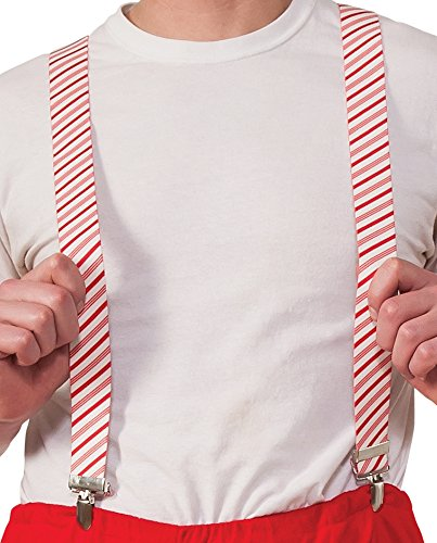 Rubie's Costume Men's Clausplay Candy Cane Striped Suspenders