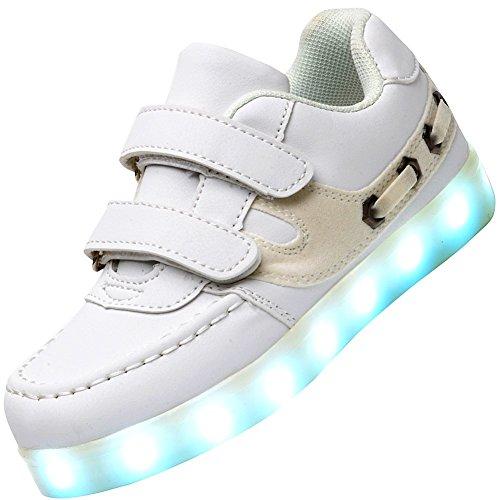 Odema-Zapatillas-de-Luz-LED-Colores-de-Velcro-Unisex-para-Ninos