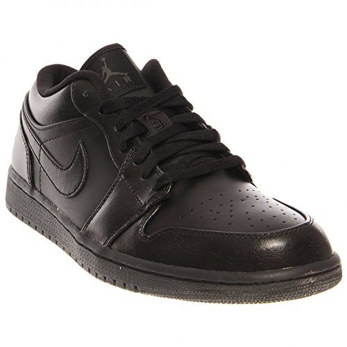Nike Men's NIKE AIR JORDAN 1 LOW BASKETBALL SHOES 8.5 Men US (BLACK/BLACK/BLACK) (Jordan 2013 Shoes compare prices)