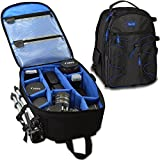 Acuvar Professional DSLR Camera Backpack with Rain Cover for Canon, Nikon, Sony, Olympus, Samsung, Panasonic, Pentax models.