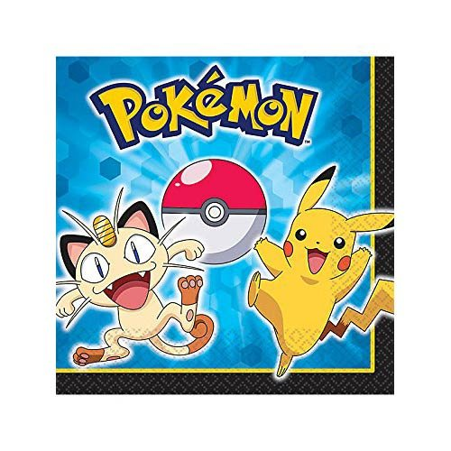 Pokemon Pikachu and Friends Luncheon Napkins [16 Per Pack] - 1