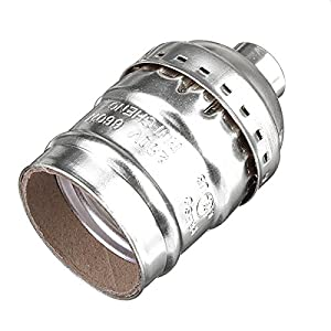 KingSo Edison Vintage Lamp Light Base socket Holder adapter E27 Bulbs -Suitable for Bare Bulb Features No wire no switch by KingSo