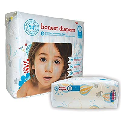 The Honest Company Diapers - PREMIUM Eco-friendly - 1 Package - 25 Ct - (27 lbs+) - Size 5 - BALLOONS