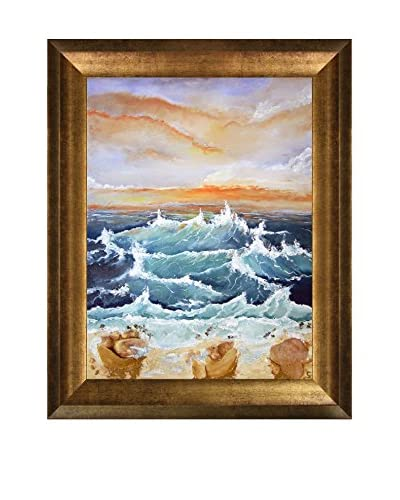 Susan Art Ocean Framed Canvas Print