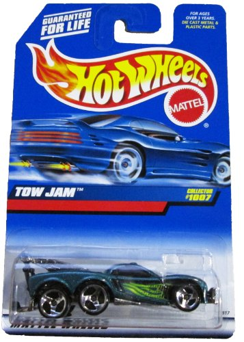 Mattel Hot Wheels 1999 1:64 Scale Green Tow Jam Die Cast Car Collector #1007 - 1