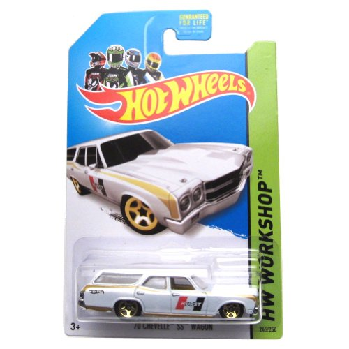 70 Chevelle SS Wagon '14 Hot Wheels 245/250 (White) Vehicle - 1