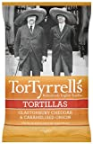TorTyrrells Glastonbury Cheddar and Caramelised Onion Tortillas 175 g (Pack of 6)
