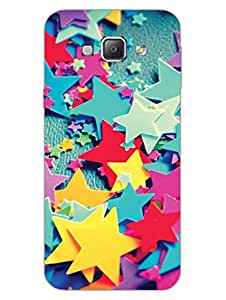Colorful Stars - Hard Back Case Cover for Samsung A8 - Superior Matte Finish - HD Printed Cases and Covers