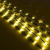 セレナ C26 ledテープ ledテープライト フットランプ カーテシ 11LED 流れるタイプ イエロー 10本セット C26