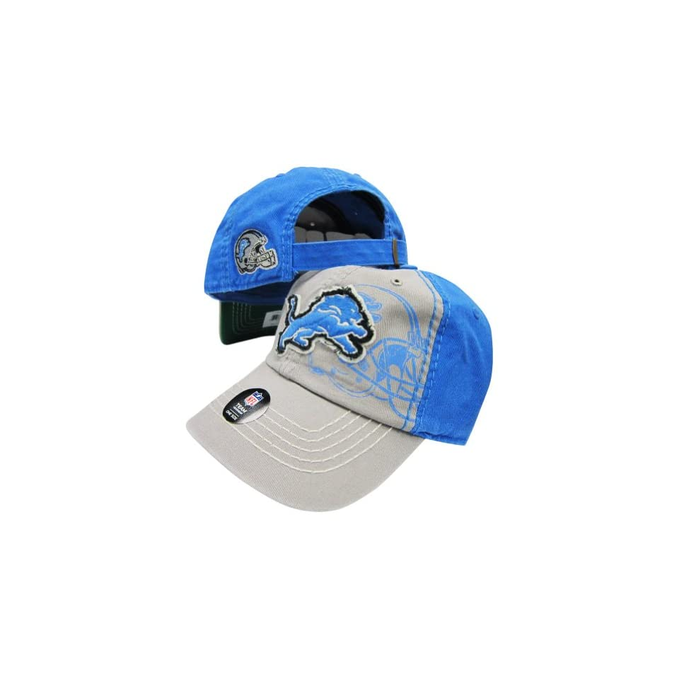 Detroit Lions Grey Light Blue Two Tone Webster Slouch Clean