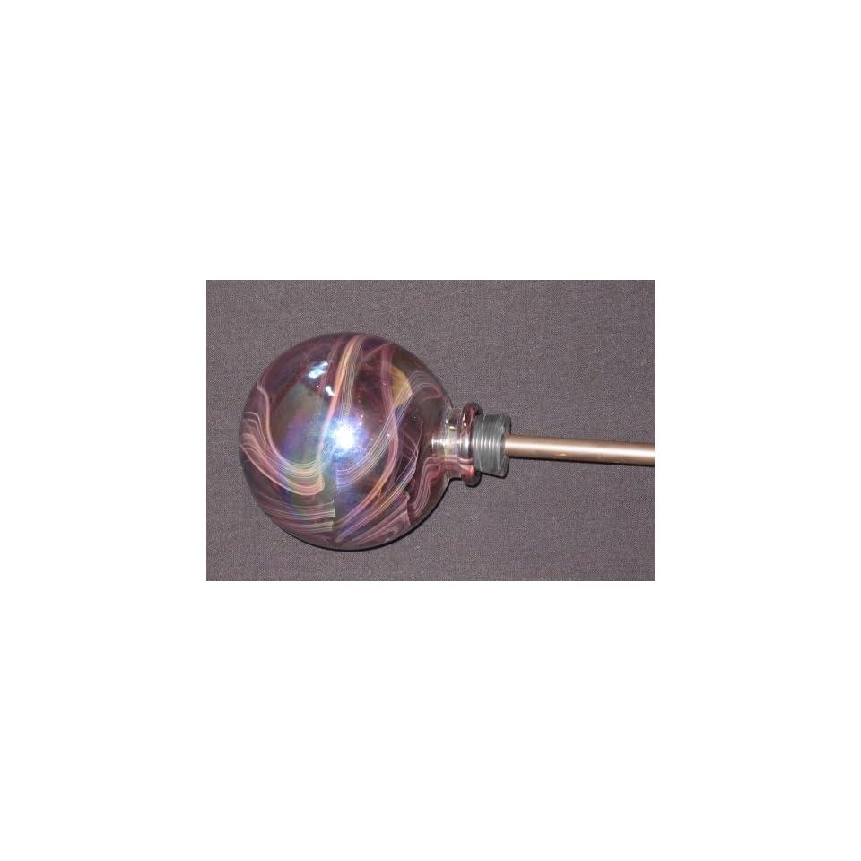 Decorative Hand Blown Art Glass Plant Watering Globe