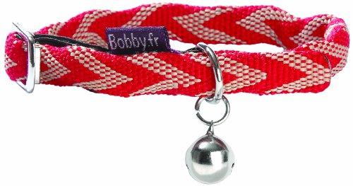 bobby-ckchev-halsband-chevron-rot