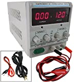 30V 5A Dual 110/220V Precision Variable DC Power Supply Cable Digital Adjustable