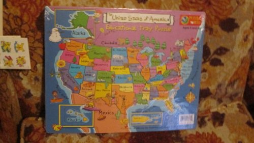 Puzzle World - The United States of America - Educational Tray Puzzle - Leap Year 1999 - 1