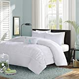 Mizone Mirimar 4 Piece Comforter Set, Full/Queen, White