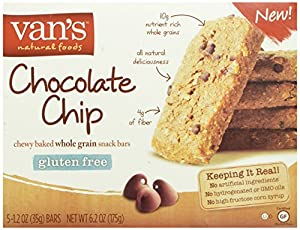 Van's Chocolate Chip Snack Bars, 1.2 oz. Bars,  5 Count Box