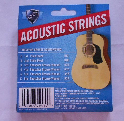 First Act Acoustic Strings Warm Tone - Phosphor