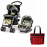 Chicco WD Cortina Keyfit Travel System With Free Fashionable Diaper Bag Miro