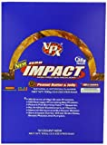 VPX Zero Impact 115 g Peanut Butter and Jelly High Protein Meal Bars - Box of 12