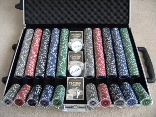 Squirrel Poker Professional 1000 Piece Tournament Laser Poker ChipSet Ultimate Design 2012 edition