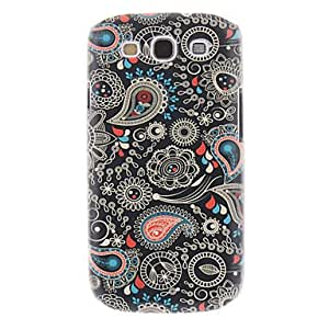 Black Spray Painting Pattern Plastic Hard Back Case Cover for Samsung Galaxy S3 I9300