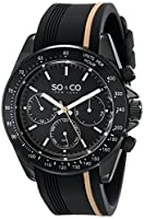 "SO&CO New York Men's 5010R.3 ""Monticello"" Black Stainless Steel Watch by SO&CO MFG"