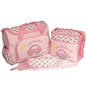 iPretty Set 4 Kits Bolsas de Mama Para Bebé Bolso/Bolsa/Bolsillo Maternal Bebé para Carro Carrito Múltifunciones con Gran Capacidad con 3 colores