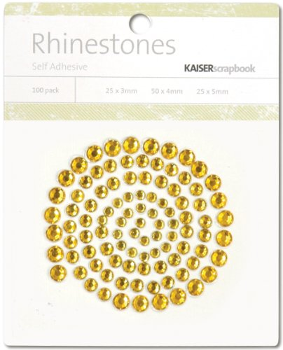 Self-Adhesive Rhinestones 100/Pkg Gold (6 Pack)