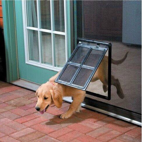"Lesypet Large Screens Pet Door Gate Way- L 12"" x 16"""
